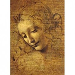Puzzle 1000 pièces - De Vinci - Viso di giovane Fanciulla un jeu Ricordi