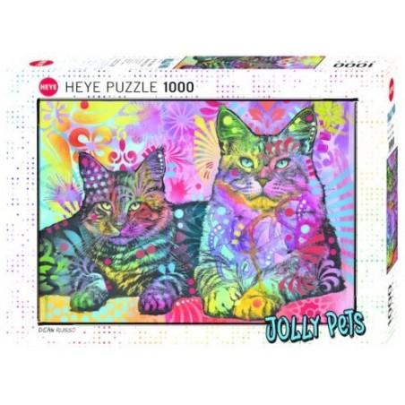 Devoted 2 cats - 1000 pièces un jeu Heye