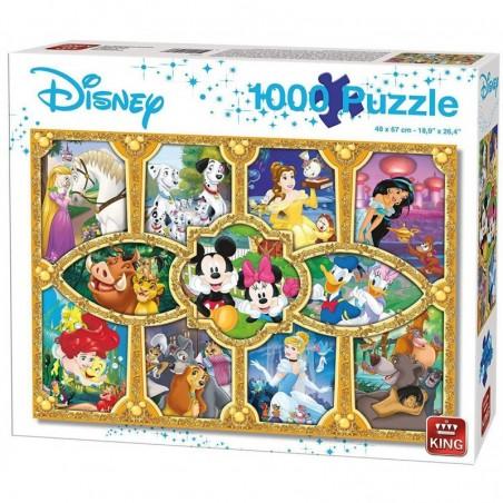 Puzzle 1000 pièces - Disney - Magical moments un jeu King