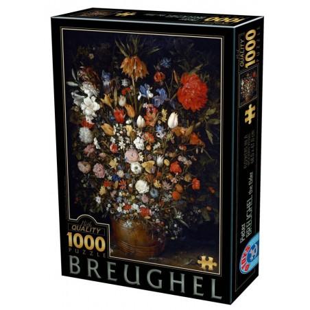 Puzzle 1000 pièces - Brughel - Fleurs dans vase un jeu D-Toys