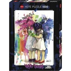 Puzzle 1000 pièces - Free colors imagination un jeu Heye