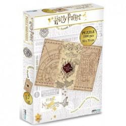Puzzle 1000 pièces - Harry Potter - Carte du Maraudeur un jeu ABYstyle