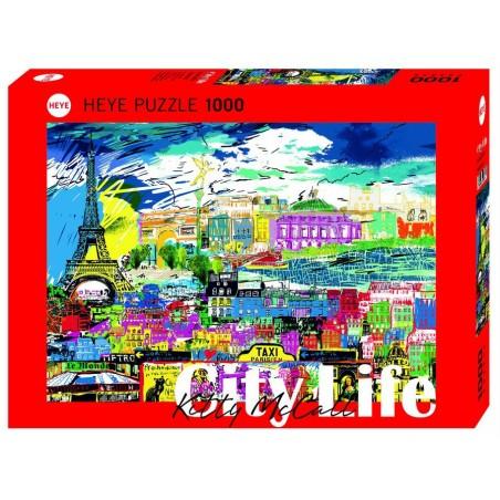Puzzle 1000 pièces - I love Paris un jeu Heye