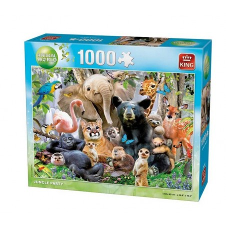 Puzzle 1000 pièces - Jungle party un jeu King