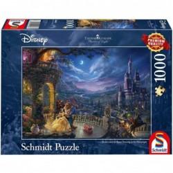 Puzzle 1000 pièces Kinkade - La belle et la bête un jeu Schmidt