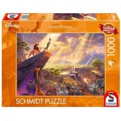 Puzzle 1000 pièces Kinkade - Le roi Lion un jeu Schmidt
