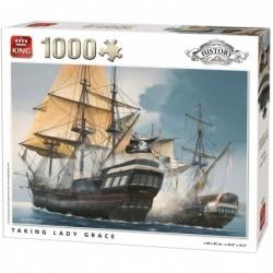 Puzzle 1000 pièces - Lady Grace un jeu King