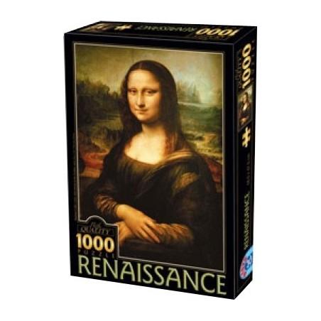 Mona Lisa - Léonard de Vinci - 1000 pièces un jeu D-Toys