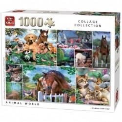 Monde animal - 1000 pièces un jeu King
