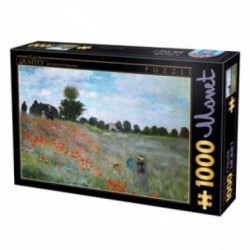Puzzle 1000 pièces Monet Champs de coquelicots un jeu D-Toys