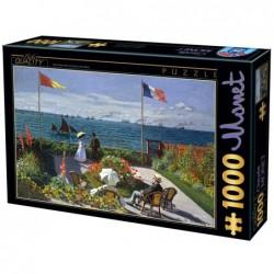 Puzzle 1000 pièces - Monet - Terrasse à Saint Adresse un jeu D-Toys