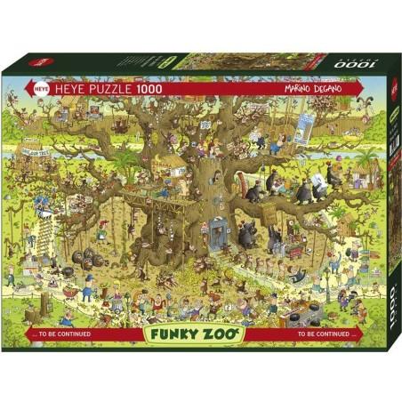 Puzzle 1000 Monkey Habitat un jeu Heye