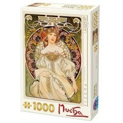 Puzzle 1000 pièces - Mucha - Rêverie un jeu D-Toys