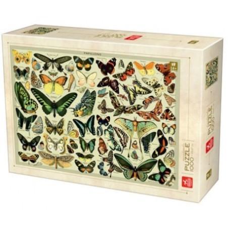 Puzzle 1000 pièces - Encyclopédie des papillons un jeu D-Toys