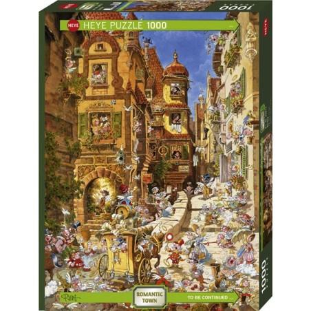 Puzzle 1000 pièces - Romantic Town By Day un jeu Heye