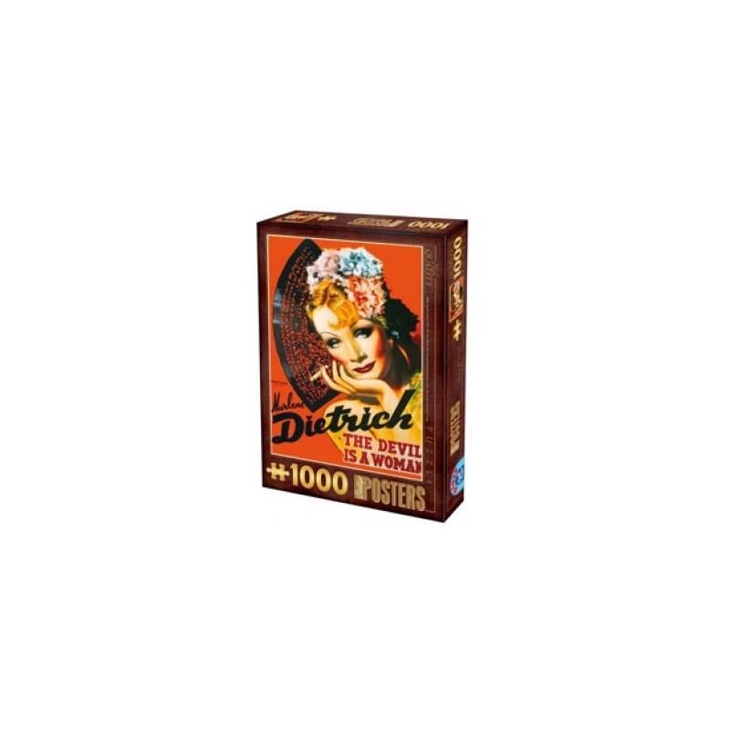 Puzzle 1000 pièces - Marlène Dietrich un jeu Heye