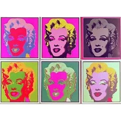 Puzzle 1000 pièces - Warhol - Marylin un jeu Ricordi