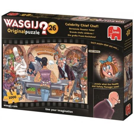 Puzzle 1000 Wasgij Celebrity Chef un jeu Jumbo