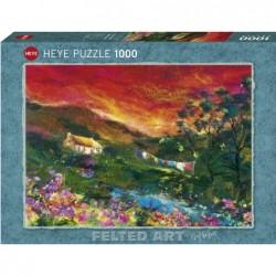 Puzzle 1000 pièces - Washing line un jeu Heye