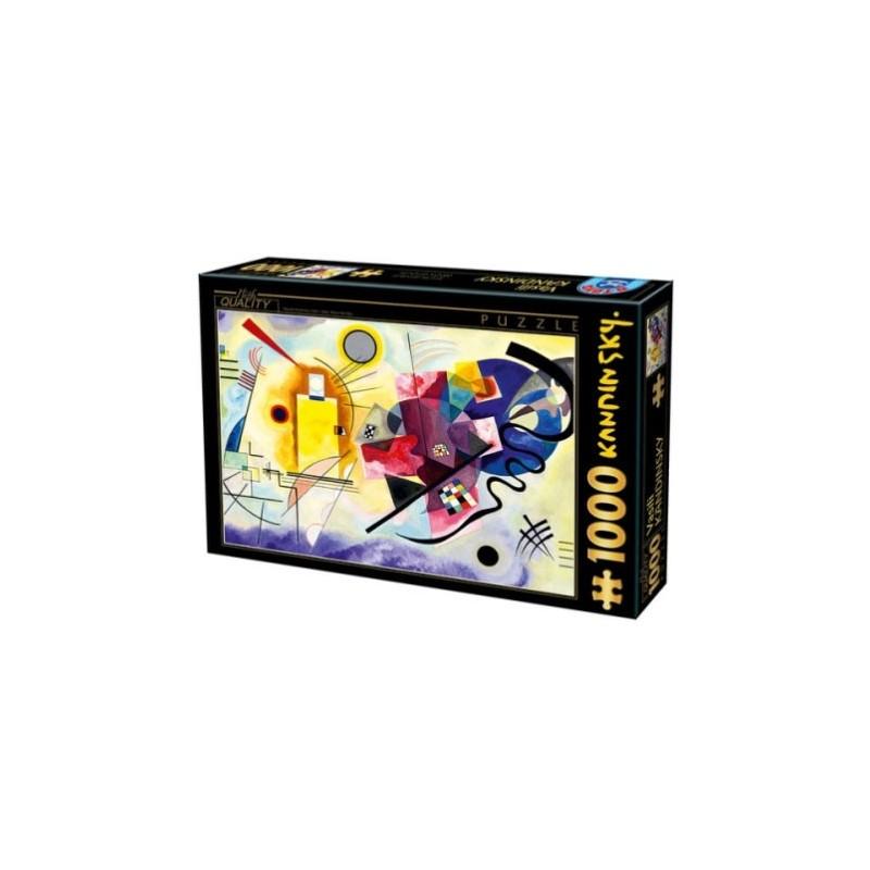 Puzzle 1000 Kandinsky - Yellow-red-blue un jeu D-Toys