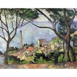 Puzzle 1500 pièces - Cézanne - Vue de l'estaque un jeu Ricordi