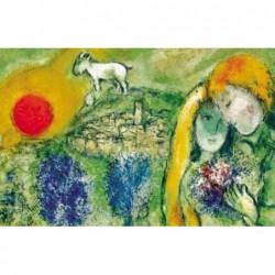 Puzzle 1500 pièces - Chagall - Les amoureux de Vence un jeu Ricordi