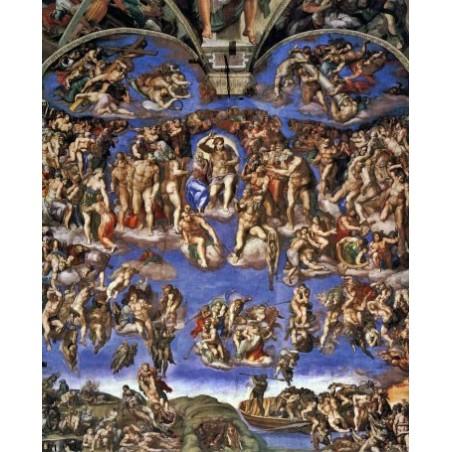 Puzzle 1500 pièces - Michelangelo - Giudizio universale un jeu Ricordi