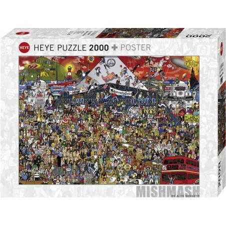 Puzzle 2000 pièces - British music history un jeu Heye
