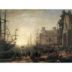 Puzzle 2000 pièces - Lorrain - Porto con vila Medici un jeu Ricordi