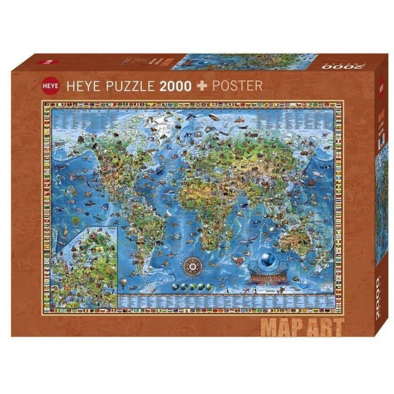 Puzzle 2000 pièces - Amazing world un jeu Heye