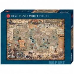 Puzzle 2000 pièces Pirate World un jeu Heye