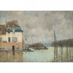 Puzzle 2000 pièces - Sisley - La barque pendant l'inondation à Pont-Marly un jeu Ricordi