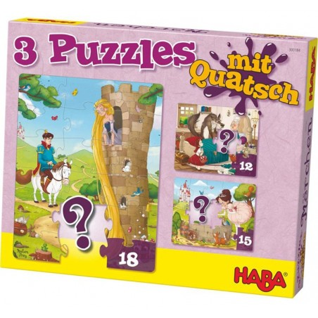 3 puzzles rigolos - Contes de fée un jeu Haba