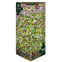Puzzle 4000 pièces - Crazy world cup un jeu Heye