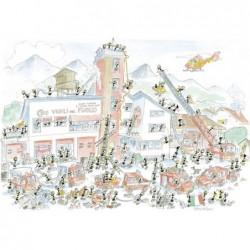 Pompiers - 540 pièces un jeu Akena