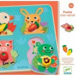 Puzzle gros boutons - Croc carrot un jeu Djeco