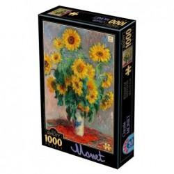 Puzzle 1000 pièces Monet - Bouquet de tournesols un jeu D-Toys