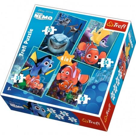 Puzzle 4 en 1 Nemo & Dory un jeu