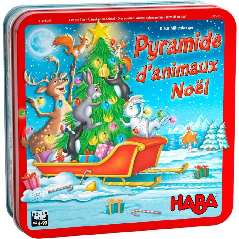 Pyramide d'animaux Noel un jeu Haba