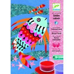 Sables colorés - Arcs-en-ciel de poissons un jeu Djeco