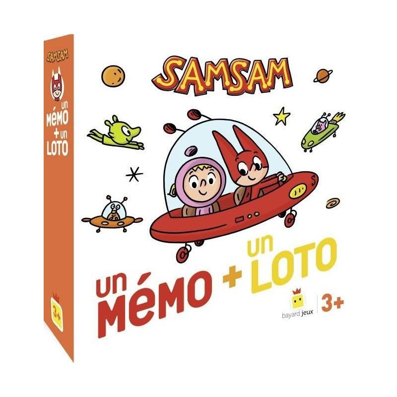 Sam Sam - un mémo + un loto un jeu Bayard Jeux