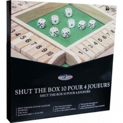 Shut the box 10 (4 joueurs) un jeu Loisirs Nouveaux