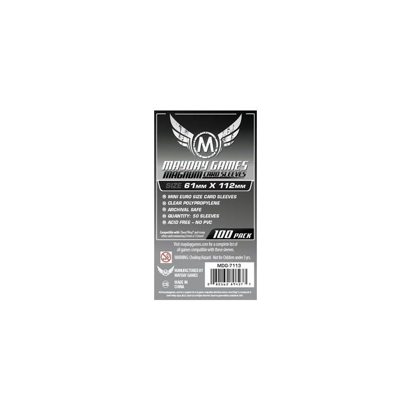 Lot de 100 Protège-Cartes pour Le roi des Nains 61x112mm un jeu Mayday Games