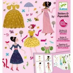 Stickers & Paperdolls - Robes 4 saisons un jeu Djeco