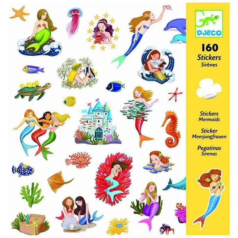 Stickers - Sirènes un jeu Djeco