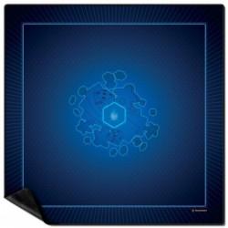 Tapis multi jeux 92 x 92 cm bleu un jeu Wogamat