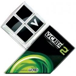 V-CUBE - Cube 2x2 Plat Blanc un jeu V-Cube