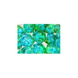 10 D10 * gemini * VERT & SARCELLE (transparents)