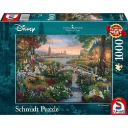 Puzzle 1000 pièces - Kinkade - 101 Dalmatiens