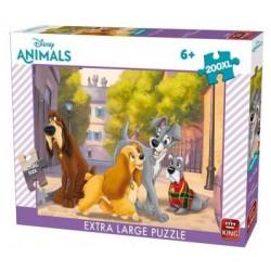 Puzzle 200 pièces XL La Belle et le Clochard - King